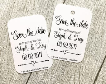 Save The Date Personalised Tags, wedding save the dates, wedding tags
