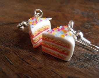 Earrings - shares of cakes red fruits
