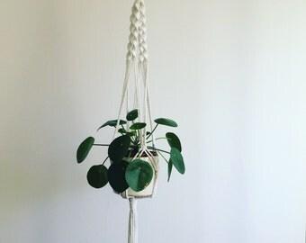 Macrame plant hanger, Plant hanger, Plant holder, Plant display, Rope hanger, Hanging planter, Bohemian, Boho style, UK, Twist knot