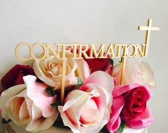 Confirmation Cake Topper Cake Decoration Cake Toppers Confirmation Cake Topper Religious Cross Cake Topper Confirmation