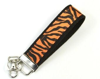 STRIPS Fabric Key chain, Tigers strips keyfob, Strips wristlet, Game wristlet, Lovers gift, Wristlet