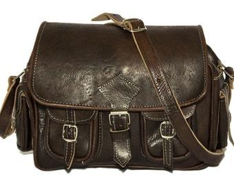 Medium Coco Leather Moroccan Camera Bag Satchel | 80's Style