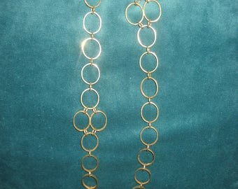 Long Costume Jewelry Large Chain Link Necklace
