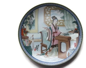 1987 Chinese Imperial Jingdezhen Porcelain Collector Plate #4 // Red Mansion collection by Master Artisan Zhao Huimin 404H