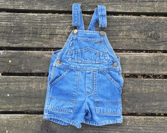 Vintage - Size 3T Overalls Jean Denim Shorts Bibs Baby Toddler Kids Clothes Liberty Boys