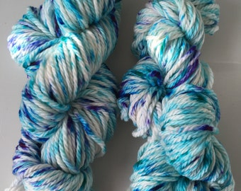 "Hand-Dyed Merino Wool Bulky Weight ""Neptune"""