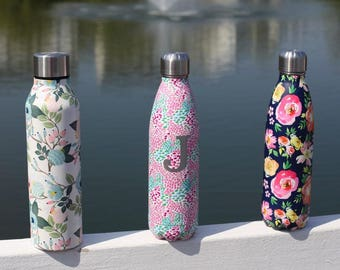 Floral Stainless Steel Water Bottle