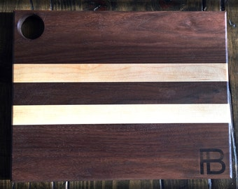 Walnut and Maple Serving Board