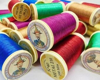 Metallic Floss / Embroidery Floss / Modern Embroidery / Modern Art Thread / Embroidery Thread / DIY Embroidery / Beading Floss / Sajou