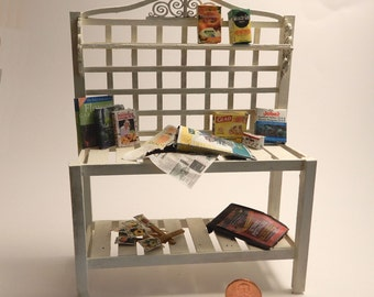 Miniature 1:12 scale Potting Bench Kit