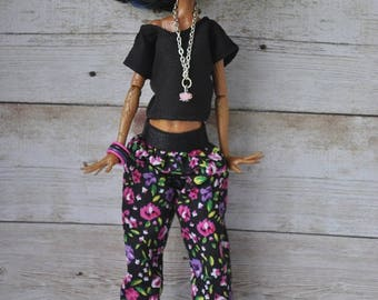 Handmade blouse and pants for Ever After High ,Monster High dolls