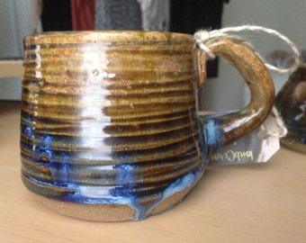 Small green and blue mugs