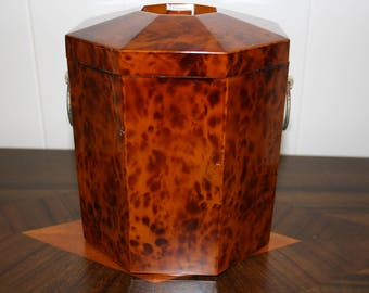 Faux Tortoise Shell Ice Bucket