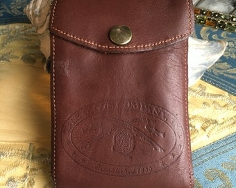 Orvis Leather Fly Wallet Leader / Tippet Vintage Soft Brown Leather