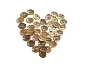 Jewelry Tags - Bronze Oval Handstamped Custom Logo Jewelry Design Branding