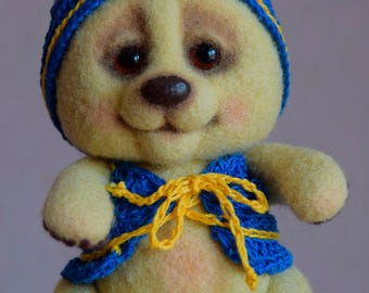 Needle felted Little Bear