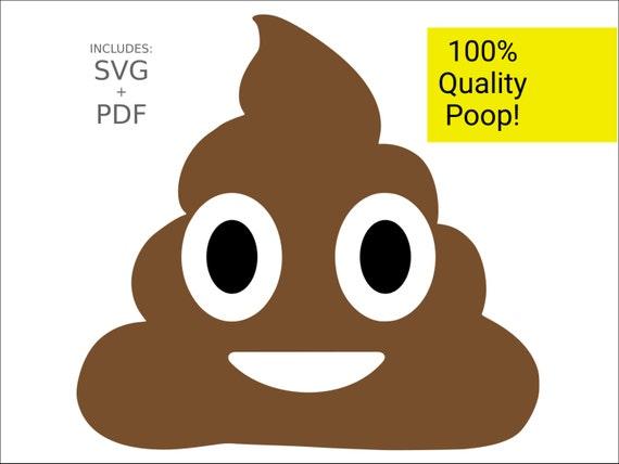cuttable emoji svg poop turd emoticon dung poo vector cut