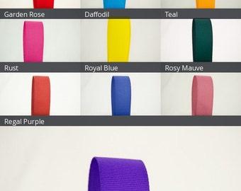 Ribbon Bazaar Solid Grosgrain Ribbon 5/8 inch By the Yard 100% Polyester