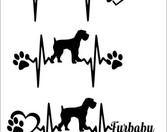 Giant Schnauzer svg, svg bundle, Giant Schnauzer, paw print, svg files,  design, for cricut, for silhouette, heartbeat svg, Co, lover gift