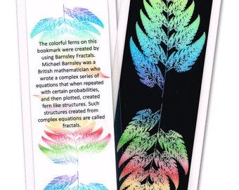 Barnsley Fractal Ferns Laminated Bookmark