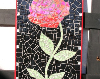 Red rose mosaic table