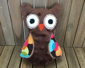 Owl Plushie, Owl Stuffed Animal, Woodland Stuffed Animal, Child Friendly Toy, Plush Owl, Forest Animal, Baby Gift
