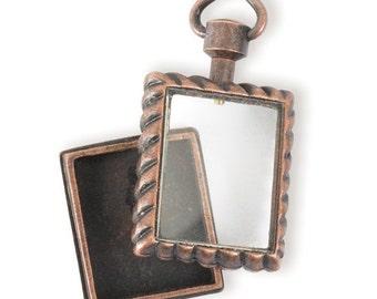 Square Locket Pendant (STEAM148)