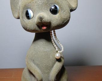 "Vintage Mouse Bobblehead Nodder Bank - 7 1/4"" - Very Cute!"