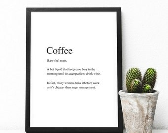Coffee | Art Print | A4 Unframed - Free Shipping within Australia