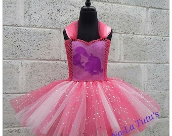 Shimmer and Shine Tutu Dress - Genie Tutu - Sparkly Tutu Dress - Birthday Dress -  NJ Dress - Shimmer and Shine Costume - Pink Tutu Dress
