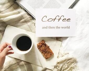 Coffee | Foil Prints | Wall Art | Home Decor | Kitchen Decor | Real Foil