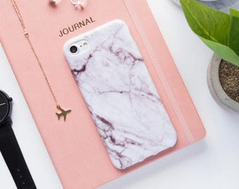 iPhone Case - White Marble - iPhone 7 Case, iPhone 6s Case, iPhone 6 Case, iPhone 5s Case, iPhone 7 Plus, High Fashion, White Marble, 6 plus