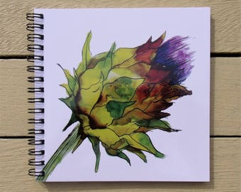 Thistle Notebook -Thistle Gift - Scottish Gift