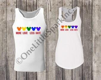 Disney gay days / disney gay / love is love / no hate / mickey rainbow / disney rainbow / gay pride lgbt disney