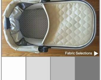 Grey UPPAbaby fitted bassinet sheets Vista or Cruz.Custom pram or stroller bassinet sheets from premium cotton.Gender neutral modern nursery