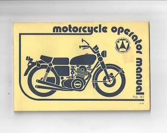 Vintage 1979 Pennsylvania PA Motorcycle Operator Manual License Safety Test Pub.147