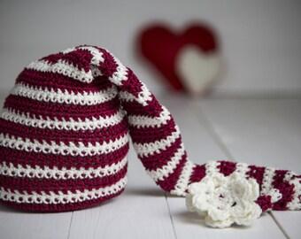 Handmade Crochet Infant Hat, Crochet Hat, Baby Hat , Holdiday Hat