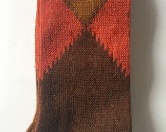 Vintage SUTEX men's argyle socks - never used (uncommon) 1950s