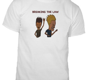 Beavis and Butthead T-shirt MTV Breaking the Law