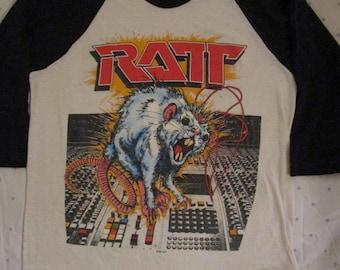 Vintage Ratt Shirt Ratt 'N' Roll 1984 Tour Shirt Rare Motley Crue Dokken Poison Quiet Riot Scorpions Tour shirt
