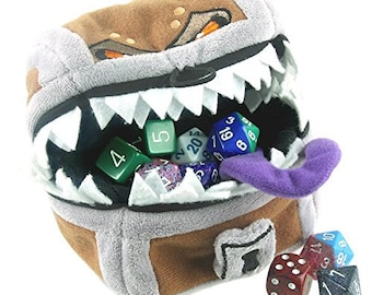 D&D Mimic Gamer Pouch Dice Bag Dungeons and Dragons Accessory