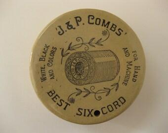 Vintage Advertising J & P Combs Thread String Holder Moira Pottery England Stoneware