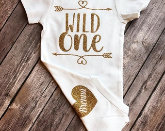 First birthday bodysuit, Wild ones first birthday, Personalized first birthday outfit, 1st birthday top, shirt for first birthday