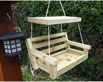 Garden Bench Novelty Hanging Bird Feeder