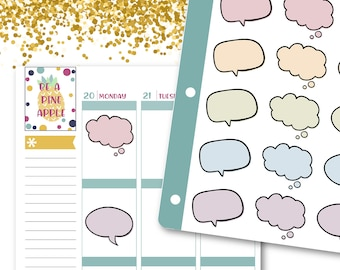 Speech and Thought Bubble Planner Stickers