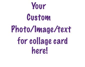 Custom Collage Card white