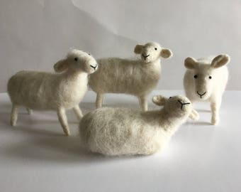Handmade Needle Felted Sheep