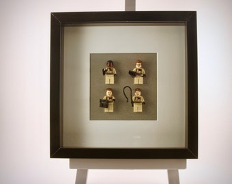 Ghostbusters (1984) mini Figures framed picture 25 by 25 cm