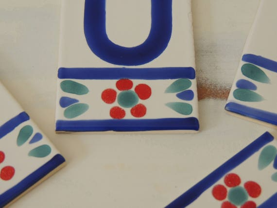 Arts Craft Letters In Ceramic Tiles