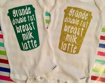 Breastmilk Latte, Breastfeeding, Grande Coffee Cup baby bodysuit